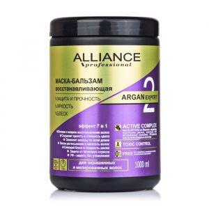 Маска-бальзам для окрашенных и мелированных волос восстанавливающая, Alliance Professional, 1 л