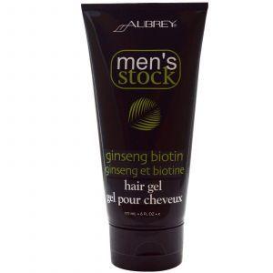 Гель для волос, с биотином и женьшенем,Aubrey Organics,177 мл