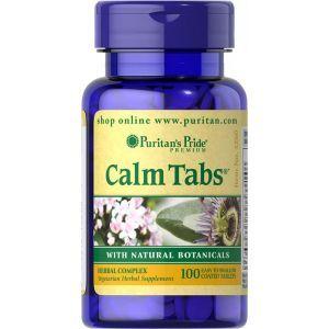 Травяная успокаивающая формула, Calm Tabs, Puritan's Pride, 100 таблеток