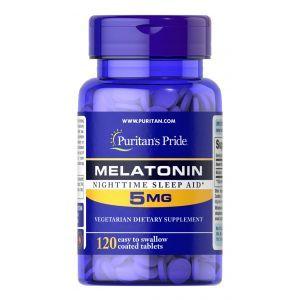 Мелатонин, Melatonin, Puritan's Pride, высокоэффективный, 5 мг, 120 таблеток