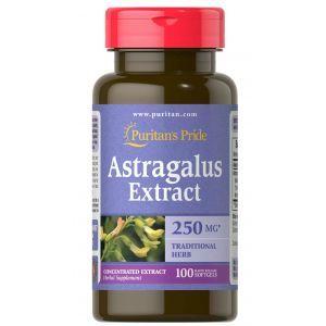 Астрагал экстракт, Astragalus Extract, Puritan's Pride, 1000 мг, 100 гелевых капсул