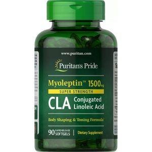 Конъюгированная линолевая кислота, MyoLeptin™ CLA, Puritan's Pride, высокоэффективная, 1500 мг, 90 гелевых капсул