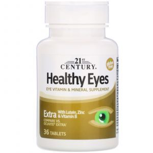 Здоровье глаз, Healthy Eyes, 21st Century, 36 таблеток