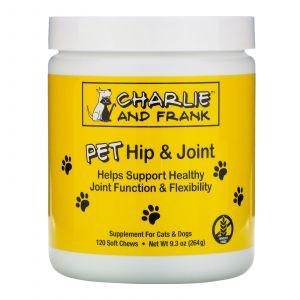 Здоровые суставы, для собак, Hip & Joint, Pet Natural Care, 90 жевательныт таблеток