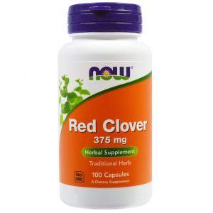 Красный клевер, Red Clover, Now Foods, 375 мг, 100 ка