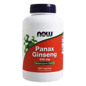 Женьшень, Panax Ginseng, Now Foods, 500 мг, 250 кап