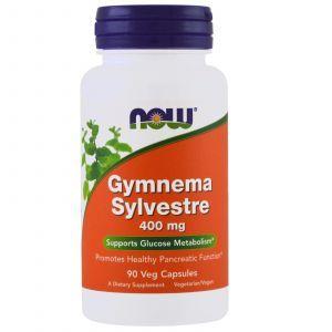 Джимнема Сильвестра, Gymnema Sylvestre, Now Foods, 400 мг, 90 кап