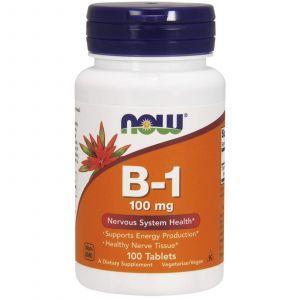 Тиамин, Витамин В1, B-1, Now Foods, 100 мг, 100 таблет