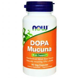 Мукуна жгучая (Капикачху), Dopa Mucuna, Now Foods, 90 ка