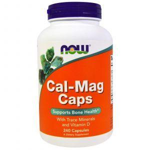 Кальций и магний в капсулах, Cal-Mag Caps, Now Foods, 240 кап