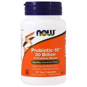 Пробиотик-10, Probiotic 50 Billion, Now Foods, 50 ка