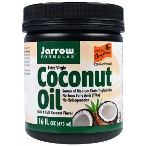 Кокосовое масло, Coconut Oil, Jarrow Formulas, органическое, 473 г