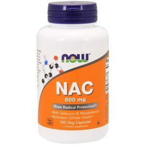 Ацетилцистеин, NAC (N-Acetyl Cysteine), Now Foods, 600 мг, 100 кап