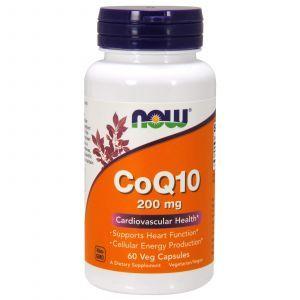 Коэнзим Q10 (CoQ10), Now Foods, 200 мг, 60 кап