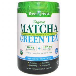 Зеленый чай Матча, Matcha Green Tea, Green Foods Corporation, органик, 312