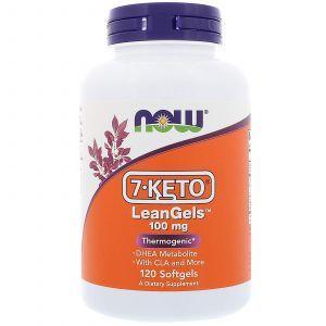 7 кето Дегидроэпиандростерон, 7-Keto LeanGels, Now Foods, 100 мг, 120к