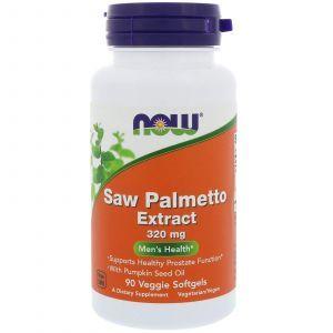 Со Пальметто, Saw Palmetto, Now Foods, экстракт, 320 мг, 90 капсу