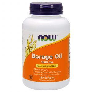 Масло огуречника (Borage Oil), Now Foods, 1000 мг, 120 капс
