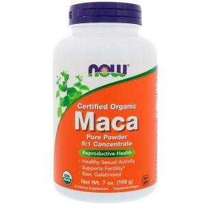 Мака (Maca), Now Foods, вегетарианская, порошок, 198 г