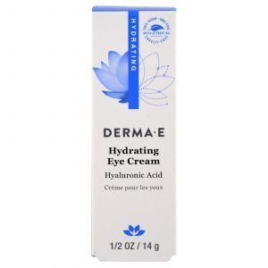 Крем для век с гиалуроновой кислотой, Hydrating Eye Cream, Derma E, 14