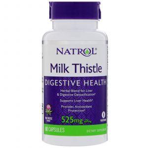 Расторопша, Milk Thistle, Natrol, 525 мг, 60 капс