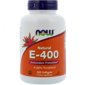 Витамин Е, Vitamin E-400, Now Foods, 250 капс