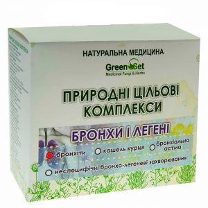 """Природный целевой комплекс """"Бронхиты"""", GreenSet, растительные препараты, 4 шт"""