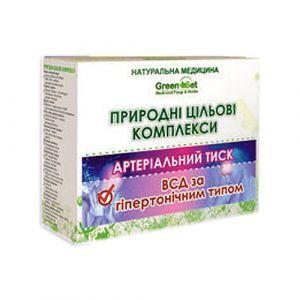 """Природный целевой комплекс """"Вегето-сосудистая дистония по гипертоническому типу"""", GreenSet, растительные препараты, 4 шт"""