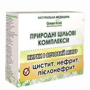 Пиелонефрит, GreenSet, природный целевой комплекс, растительные препараты, 4 шт