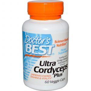 Лечебные грибы кордицепс, Doctor's Best, 60 кап.