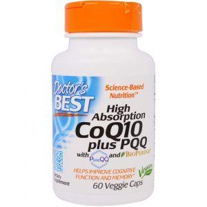Коэнзим CoQ10 плюс PQQ, (CoQ10 Plus PQQ), Doctor's Best, 60 капсул