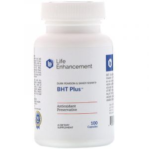 Антиоксидант для масла BHT Плюс (BHT Plus), Life Enhancement, 100 капсул