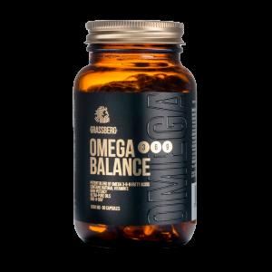 Омега 3-6-9, Omega 3-6-9 Balance, Grassberg, 1000 мг, 60 капсул