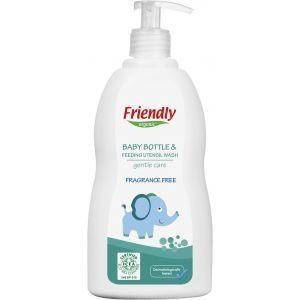 Моющее средство для бутылочек, сосок и посуды с дозатором, Baby Bottle & Feeding Utensil Wash, Friendly Organic, органическое, без запаха, 500 мл