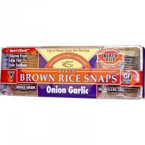Запеченные рисовые гренки с луком и чесноком, Edward & Sons, 100 г.