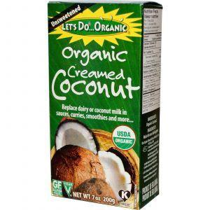 Кокосовые сливки, Organic Creamed Coconut, Edward & Sons, 200 г