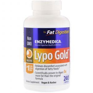 Ферменты для переваривания жиров, Lypo Gold, Enzymedica, 240 капсул