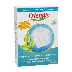 Кислородный пятновыводител, Friendly Organic, органический, порошок, 500 гр