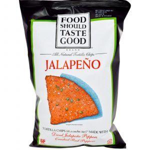 Кукурузные чипсы с халапеньо, Tortilla Chips, Food Should Taste Good, 156 г
