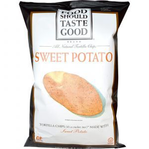 Кукурузные чипсы, сладкий картофель, Tortilla Chips, Food Should Taste Good, 156 г