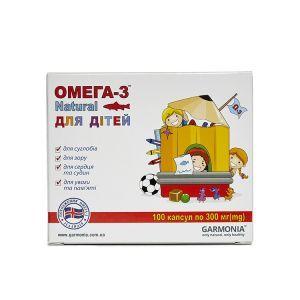 Омега-3 Natural для детей в капсулах, Гармония, 300 мг, 100 капсул