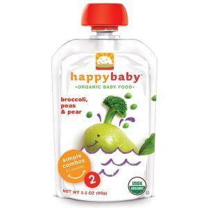 Детское питание из брокколи, горошка, груши, (Happy Baby, Stage 2, 6+ Months), Nurture Inc., 99 г