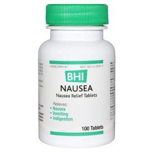 Средство от тошноты, Nausea, MediNatura, BHI, 100 таблеток