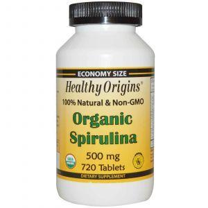 Спирулина, Healthy Origins, 500 мг, 720 табл