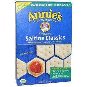 Классический запеченный крекер с морской солью, Annie's Homegrown, 184 г.