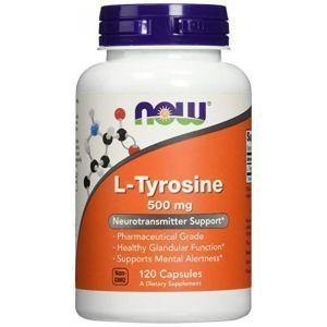 Тирозин, L-Tyrosine, Now Foods, 500 мг, 120 капсул