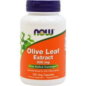Листья оливы, Olive Leaf, Now Foods, экстракт, 500 мг, 120 к