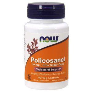 Поликозанол (Policosanol), Now Foods, 10 мг, 90 капсу