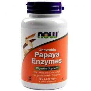 Пищеварительные ферменты, Papaya Enzymes, Now Foods, 180 леден