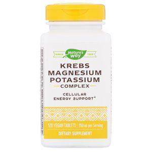 Хелаты магния/калия, цикл Кребса, EnzymaticTherapy, 120 таблеток